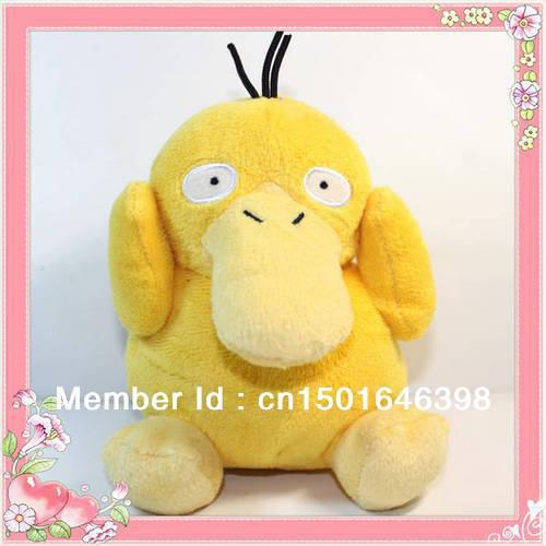 "Free Shipping 1pcs Japanese Anime Cartoon Pokemon Psyduck Plush Toy 5.5""14CM Pocket Duck Stuffed Animals Plush Doll(China (Mainland))"