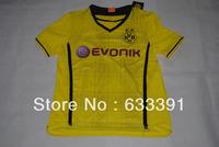 2013-2014 season thailand quality BVB Dortmund yellow home shirts