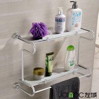 Space aluminum double layer bathroom shelf bathroom shelf 5432