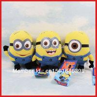 "2D Despicable ME Movie Plush Stuffed Toy 7 inch "" 17cm Minion Jorge Stewart Dave,3pcs/1set"