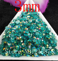 Free shipping SS12 10000pc Transparent Dark Blue Magic color AB 3mm resin jelly rhinestones applique strass Non hot fix Nail Art