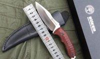 HK Free shipping Boker tactical knife D2 Steel outdoor survival knife 59HRC camping hunting straight knife G10 Handle