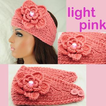 NEW handmade women knit big size headband crysta crochet hairband HEADWRAP