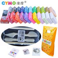 Eco-friendly cymo child multicolour polymer clay set plasticine clay dry color clay 24