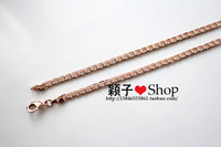 635 rose gold color gold titanium 18k lengthen necklace male lovers necklace