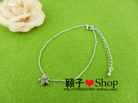Silveriness women's alloy anklet 925 silver fashion star paragraph 142