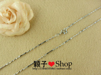 Birthday gift 1.2mm ingot chain 925 pure silver necklace lengthen 96