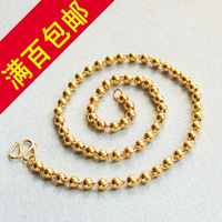 475 24k gold lengthen necklace glossy transfer bead male necklace