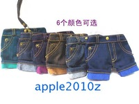 Fashion unique casual denim shorts iphone4 s mobile phone bag coin purse bag