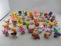 10 pcs/lot Littlest Pet Shop LPS Animals Loose action Figures Collection set  toys free shipping for children kids great gift