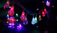 60 Colorful Water-drop Christmas LED Decoration Light , good for Home Garden Street Party Wedding, 10M String, Free shipping
