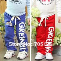 Free Shipping! 2013 Spring Autumn Clothing Wholesale Children Pants ForBboys Girls Kids Trousers 5 pcs/lot