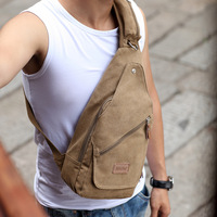 Brief man bag chest pack casual bag shoulder bag canvas bag male ride