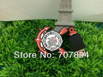Free shipping Wholesale Hot sale - Football Team logo 4GB - 32GB USB 2.0 Flash Memory Stick Drive U Disk Festival Car/Pen