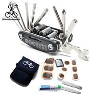 Bicycle tire repair tools tire set inner hexagonal tools levers repair tool 11 function