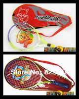 2pcs Factory Price!Children Tennis racket CheapTennis Racquet bat with racket bag Aluminum alloy frame Nylon string Freeshipping
