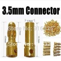 20pair/lot 3.5mm Gold Bullet Banana Connector plug for ESC Lipo RC battery Plugs