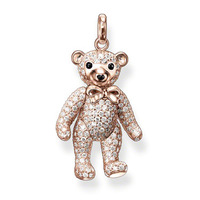 free shipping hot selling hot charm 2013 tms silver factory price ts 2234R Rose gold teddy bear pendant