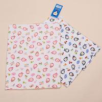 New arrival puku blue penguin print cotton gauze big towel baby rectangular bath towel 100% cotton bath towel