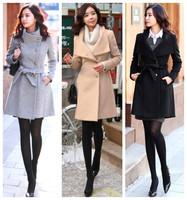 Потребительские товары cotton thick knitted ruffle wine red black bule long-sleeve plus size casual dress women dresses new fashion 2013 autumn winter