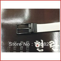 Top-quality men's thicken genuine cow leather belt with single pin buckle Factory supply Free shipping wholesale 100pcs/lot