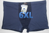 New sexy underwear 95%bamboo fiber mens boxer briefs trunk boxer underwear boxers 7pcs/lot free shipping 6XL,XXXXXXL