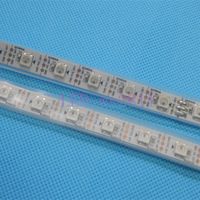 Fast Shipping  5M 300 LED 60LED/M WS2811 Black PCB Addressable 5050 RGB SMD Tube Waterproof strip Light IP67