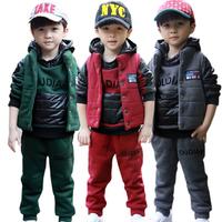 Free shipping Children's clothing coat, qiu dong David clothing three-piece suit