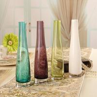 Fashion brief fashion modern decoration home decoration accessories flower fashion crystal glass vase