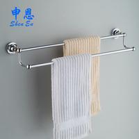 Towel rack copper double towel rack bathroom hardware