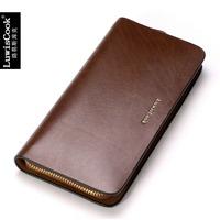 Mobile phone bag wallet brief man bag long zipper design fashion cowhide male clutch 2013