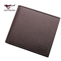 Septwolves leather male wallet vintage multi card holder commercial cowhide wallet d4165-02