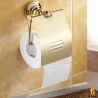 Zirconium copper gold antique towel rack fashion vintage reeling-up stand toilet paper holder bathroom towel rack