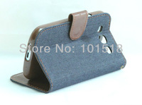 New  cowboy Leather  Wallet Book Case Cover Pouch for Samsung Galaxy S3 III i9300+FILM