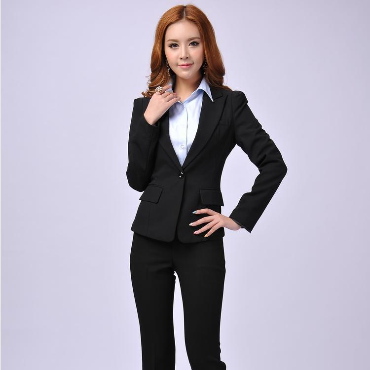 Original Women Business Suits 2016 Grey Ladies Evening Pant Suits Womens