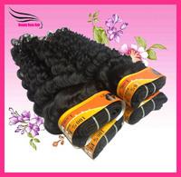Peruvian Deep Wave  Hair  Mix Length 12~28inch Natural Black DHL Free Shipping