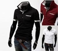 free shipping  Big sale New Mens Casual Luxury T-Shirts Slim Short Sleeves Size M L XL XXL