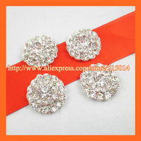Free Shipping ! 300pcs/lot 20mm Box Cluster ,Invitation Embellishment ,Rhinestone buckle /button with FLAT back