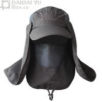 Belt hair-tail outdoor sun hat male fishing cap summer sunbonnet anti-uv quick-drying ride cap