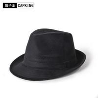 Capking hat classic cashmere fedoras male autumn and winter thermal quinquagenarian hat cap