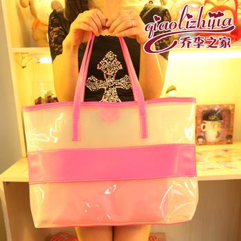2013 fashion transparent bag beach bag picture package women's handbag shoulder bag l230