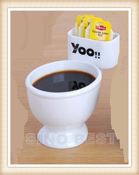 Free Shipping Hot Selling Big Mouth Toys Toilet Mug Coffee Tea Multi Functions Mugs Fun Gag Novelties Funny Products Best Gifts(China (Mainland))