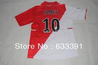 2013-2014 season thailand quality shirts league 1 monaco home 10#JAMES  jerseys