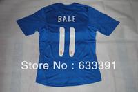 2013-2014 season thailand quality shirts real madrid blue jerseys 11#BALE