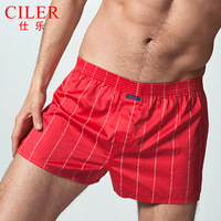 100% male cotton panties aro satin pants cotton stripe sistance trunk loose home shorts 100% cotton