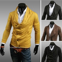 Free shipping new arrival hot fashion men cardigan jacket, sweater Korean version of the Slim Man 1414-WY30