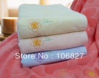 Free shipping  ! High quality 60*120 cm (3 pieces / lot) cotton soft cheap solid bath towel jacquard for sale  BT-040