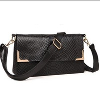 Fashion summer 2013 women's handbag crocodile pattern genuine leather shoulder bag handbag cross-body genuine leather small bags