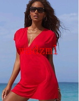 wholesale new 2013 victoria beach dress elastic viscose V-neck bikini one-piece dress outside shirt  Min order $15 free shipping