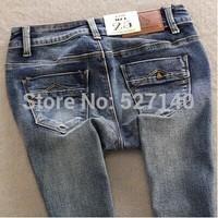 2014 autumn newly fashion fornarina trousers zipper slim elastic light color 9 jeans pants